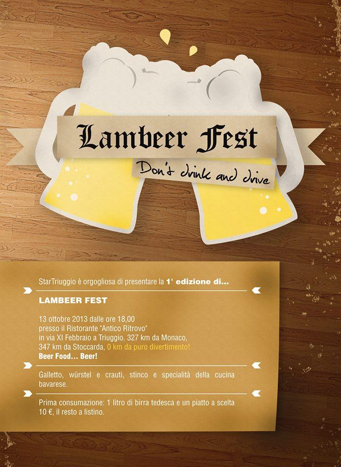 lamber fest flyer