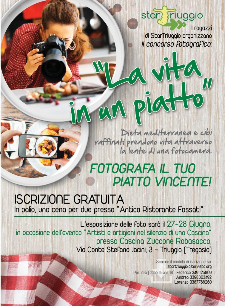 Flyer La vita in un piatto